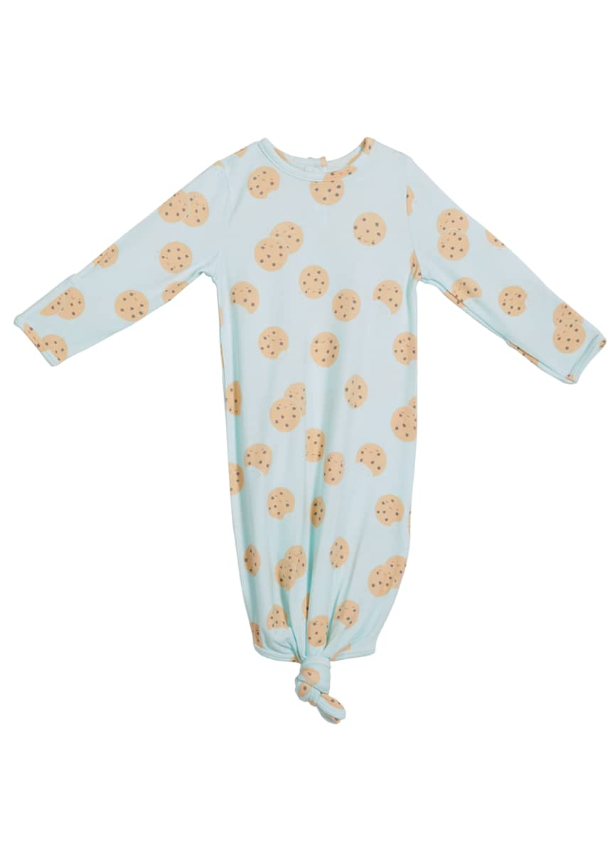 Angel Dear Cookie Long-Sleeve Knotted Gown, Size Newborn-3 Months