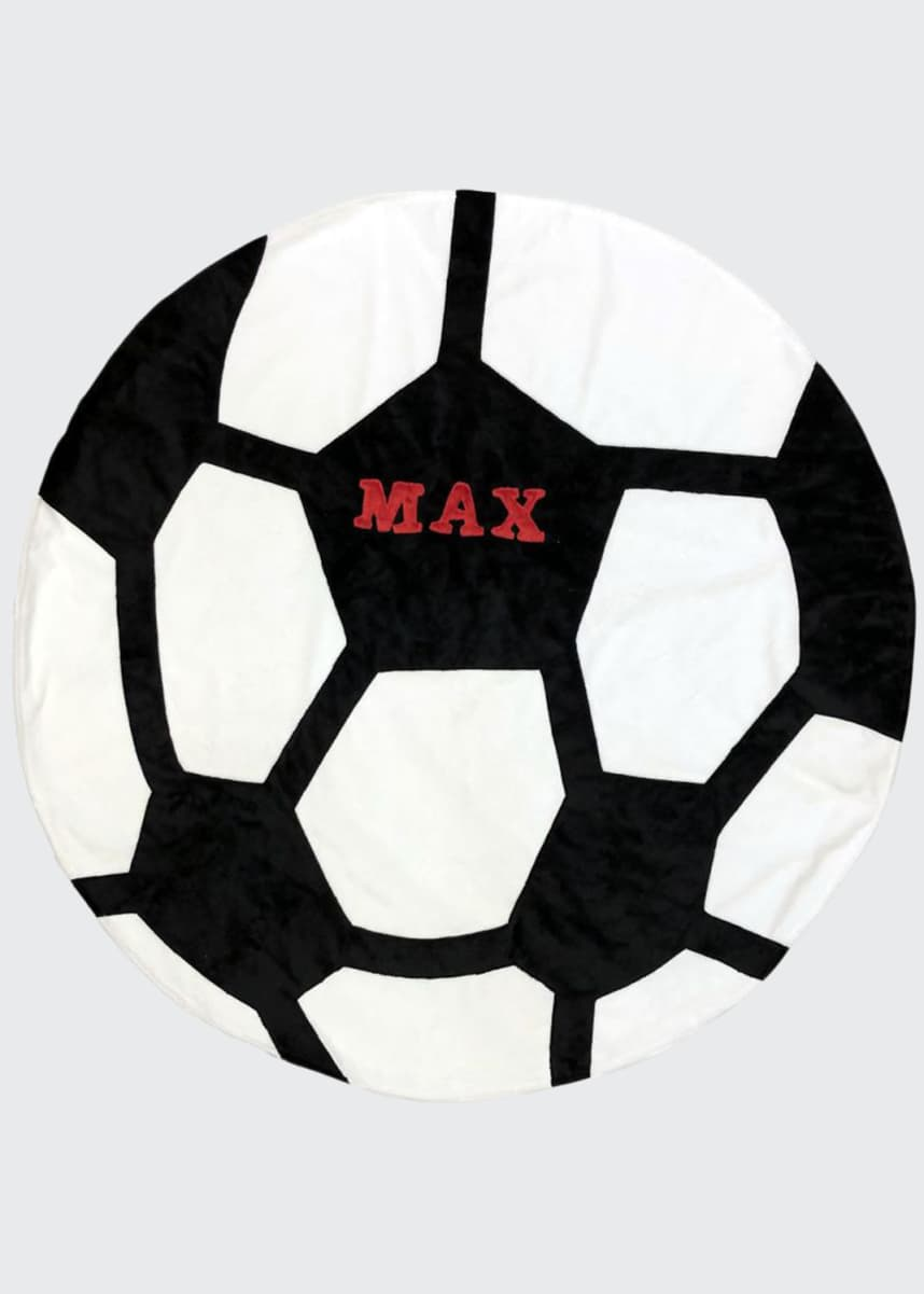 Boogie Baby Personalized Soccer Ball Blanket