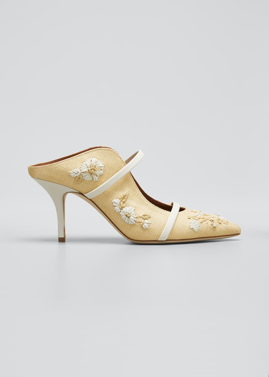 Malone Souliers Maureen Floral Embroidered Mules