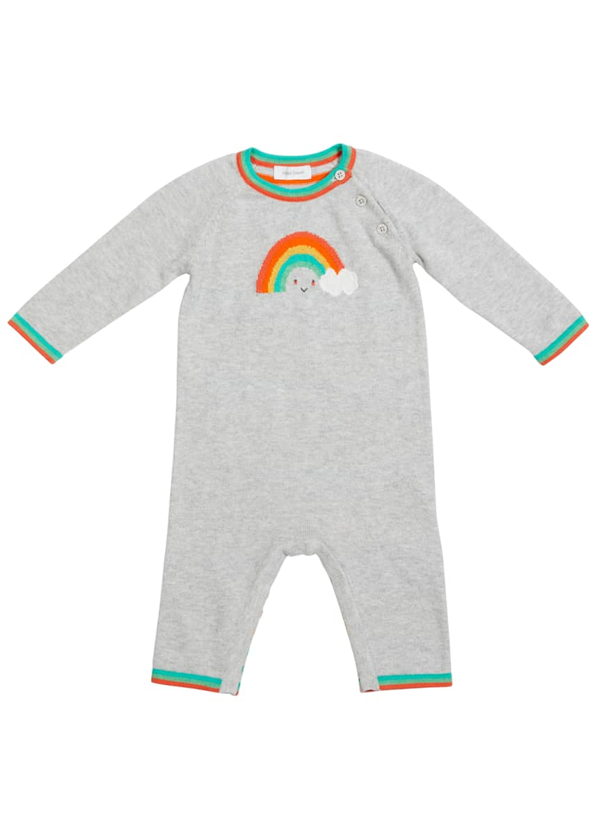 Angel Dear Rainbow Long-Sleeve Knit Overall, Size Newborn-12 Months