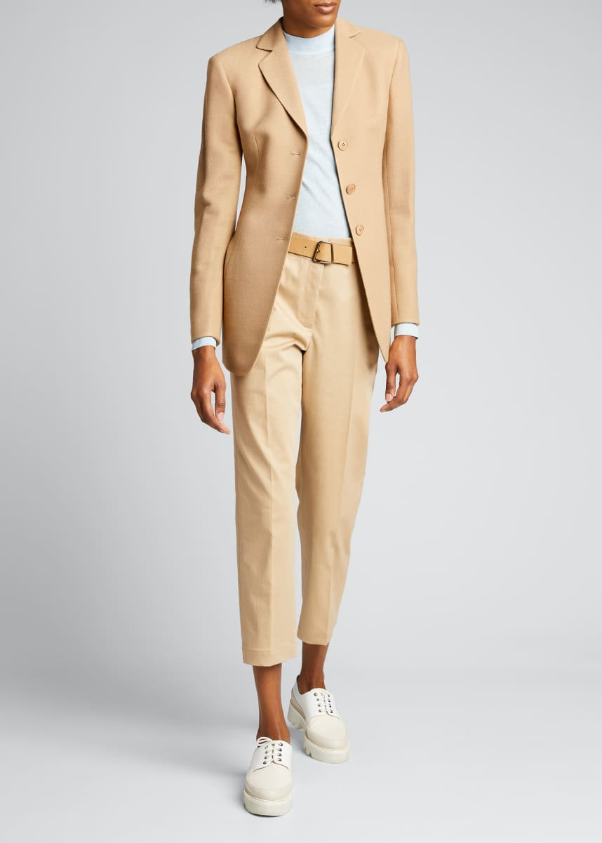 Akris Wool-Cotton Stretch Pique Jacket
