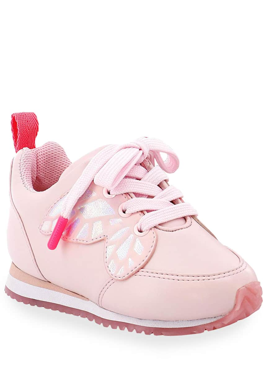 Sophia Webster Girl's Chiara Iridescent Butterfly-Wing Sneakers, Baby/Toddler/Kids
