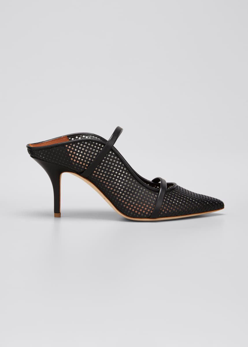 Malone Souliers Maureen 70mm Perforated Napa Mules