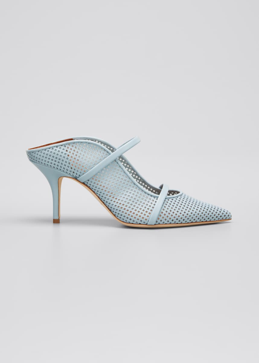 Malone Souliers Maureen 70mm Perforated Leather Mules