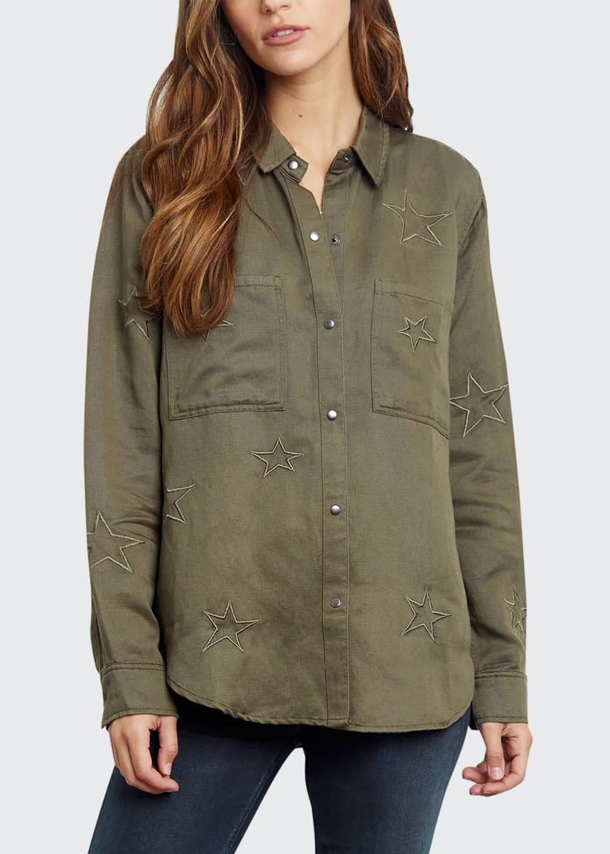 Rails Marcel Star Embroidery Shirt Jacket
