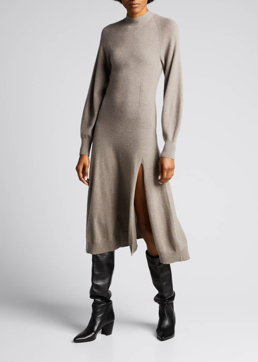 Jonathan Simkhai Brielle Cashmere Long-Sleeve Dress