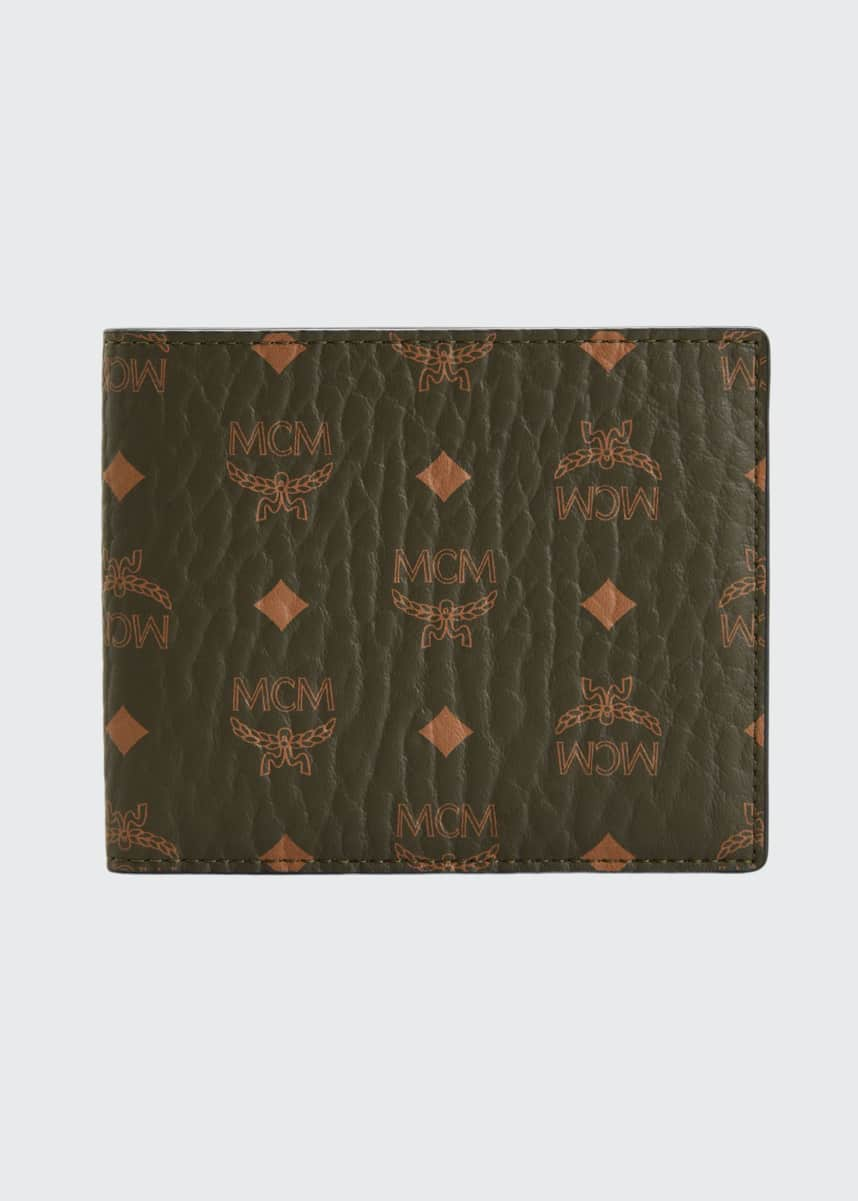 MCM Men's Monogram Bi-Fold Wallet