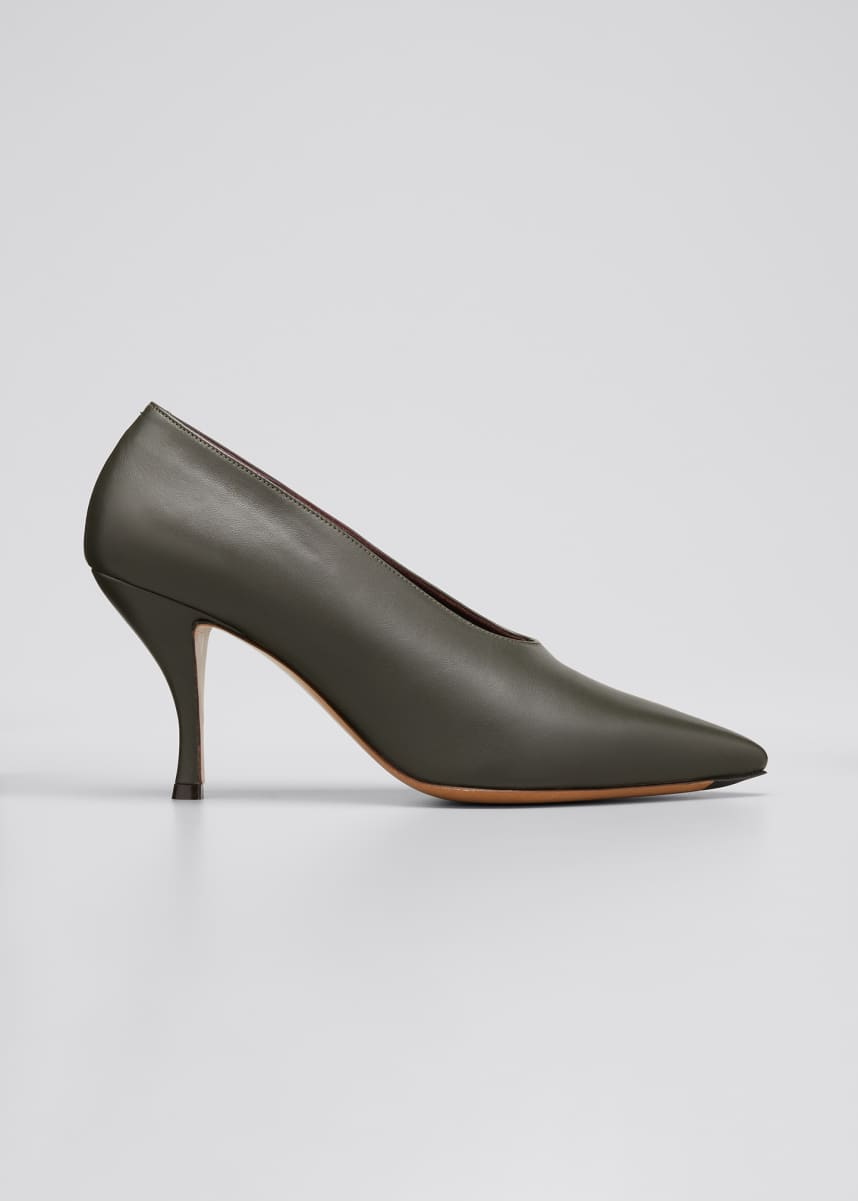 Dries Van Noten 80mm Leather Pointed-Toe Pumps