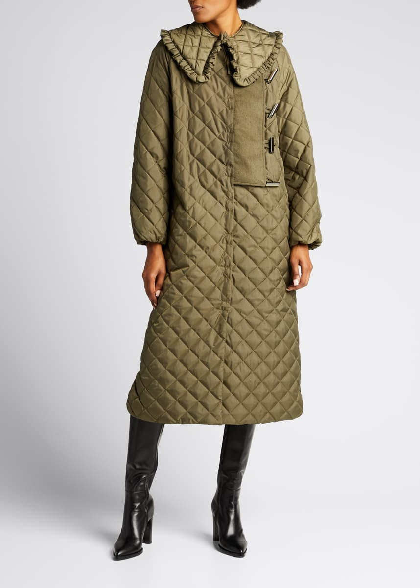 Ganni Recycled Ripstop Quilted Coat
