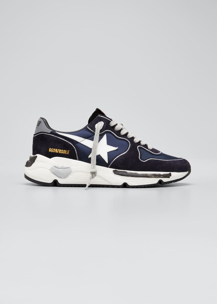 Golden Goose Men's Running Sole Mix-Media Sneakers