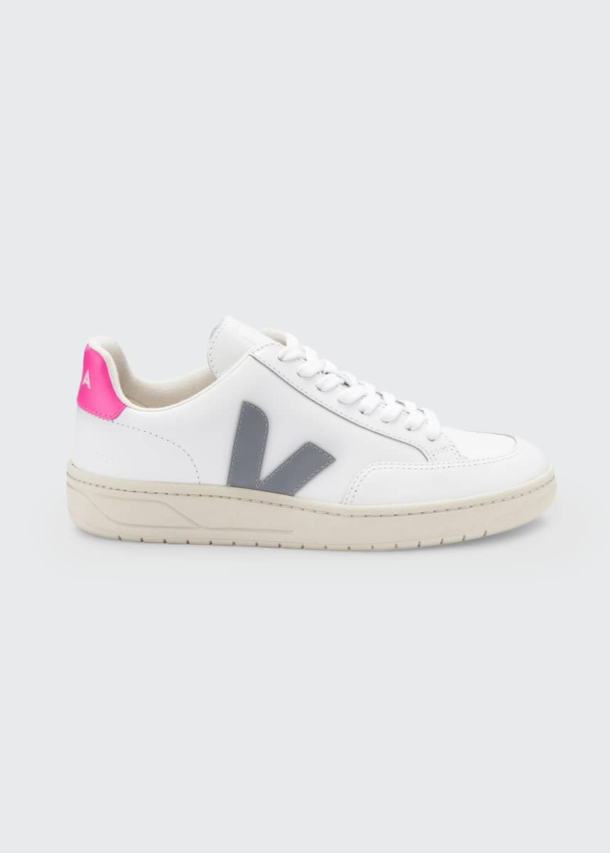 VEJA V-12 Leather Low-Top Skater Sneakers