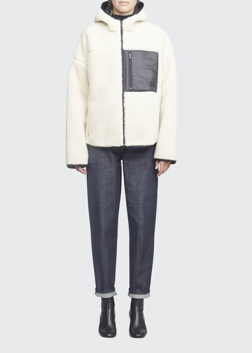 3.1 Phillip Lim Sherpa Bonded Sporty Hooded Jacket