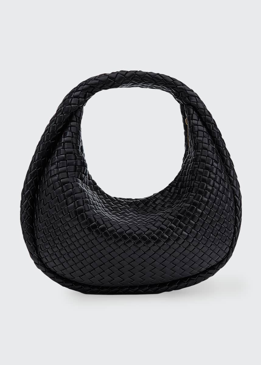 Bottega Veneta Intrecciato Leather Moon Hobo Bag