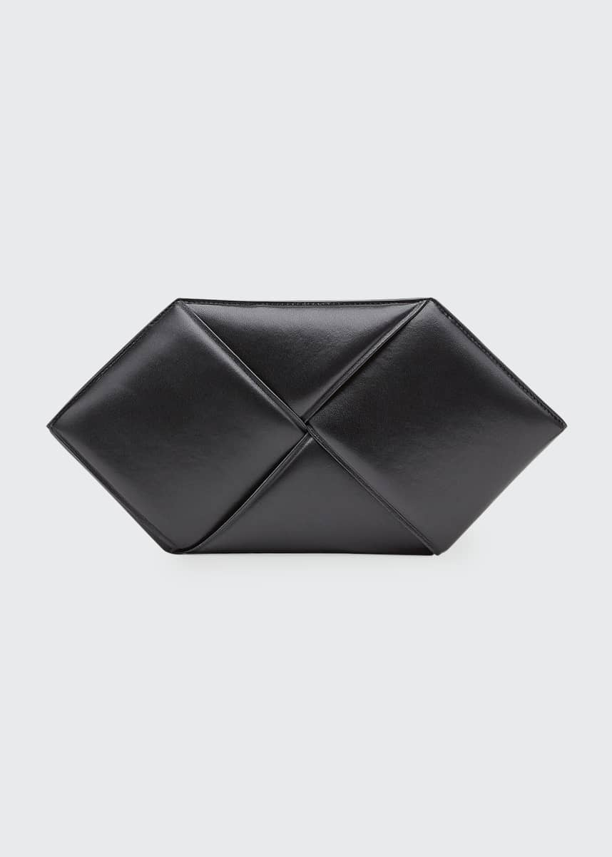 Bottega Veneta Hexagon Leather Clutch Bag