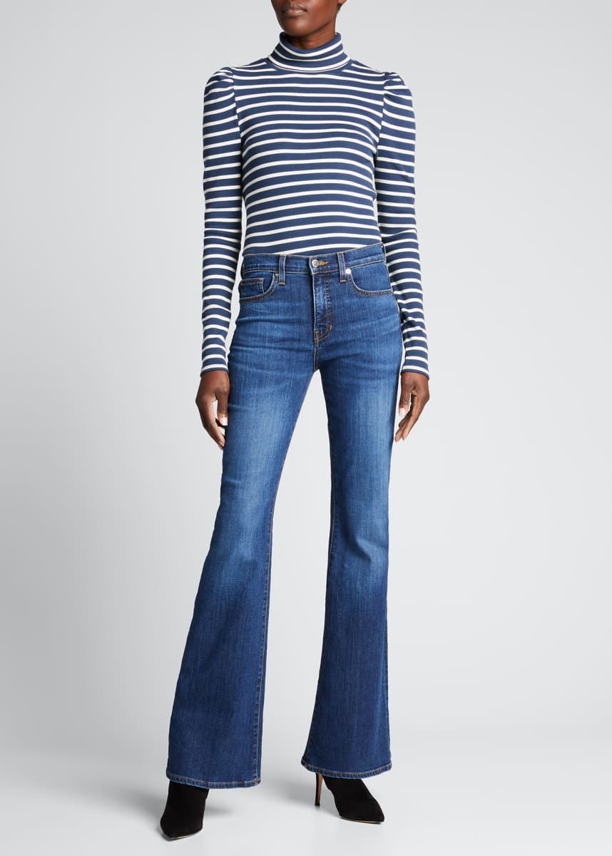 Veronica Beard Jeans Cedar Striped Turtleneck Top