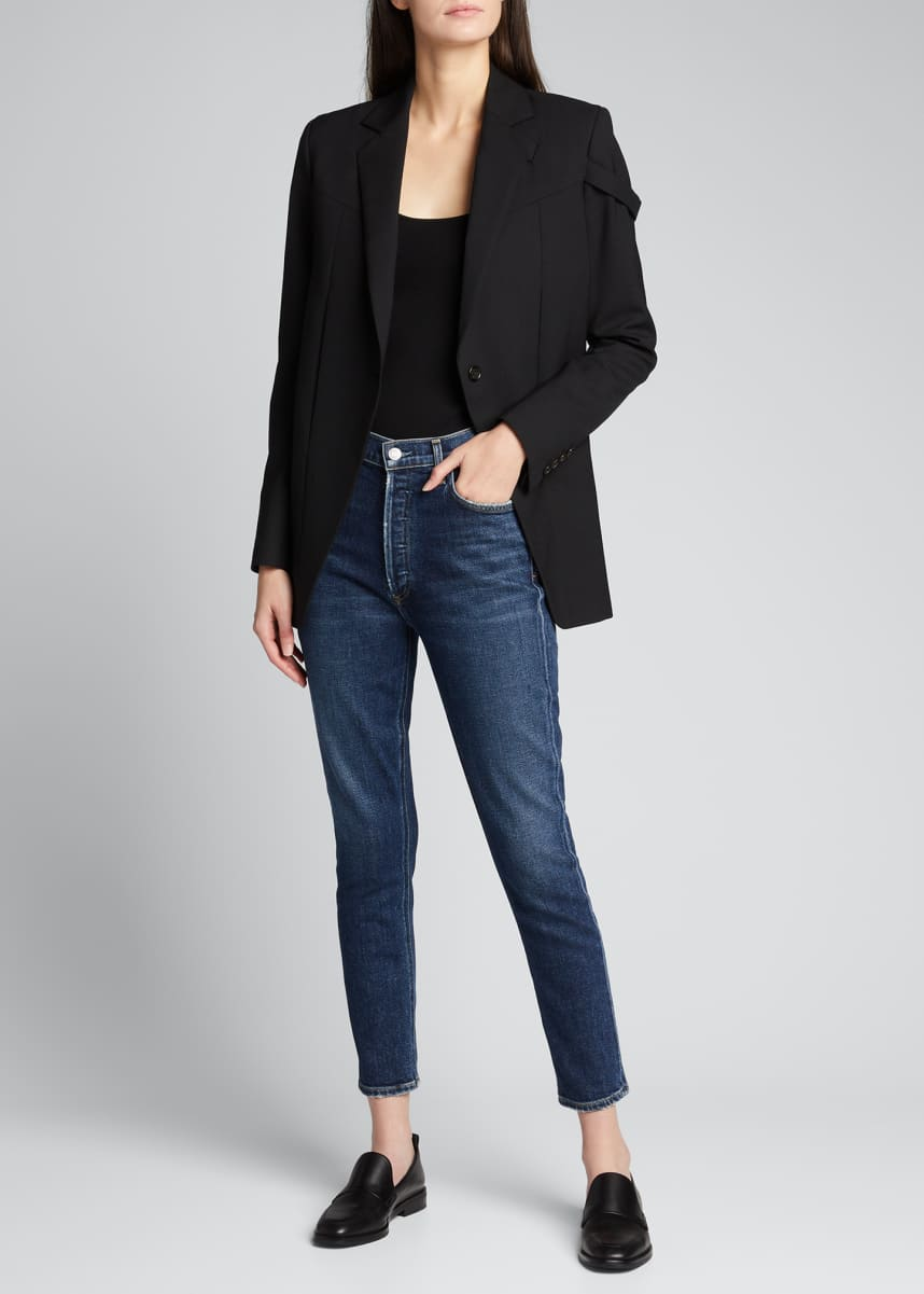 AGOLDE Nico Cropped High-Rise Slim Jeans