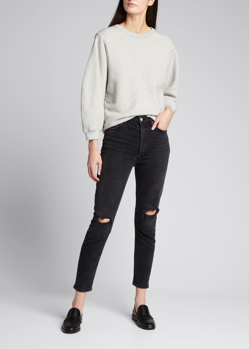 AGOLDE Nico High-Rise Slim Distressed Jeans