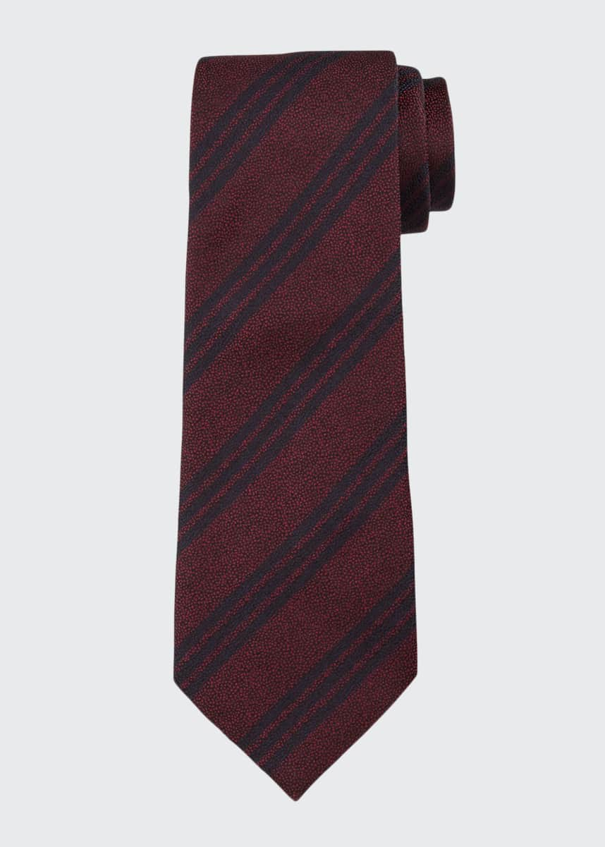 Emporio Armani Men's Silk Double-Stripe Tie
