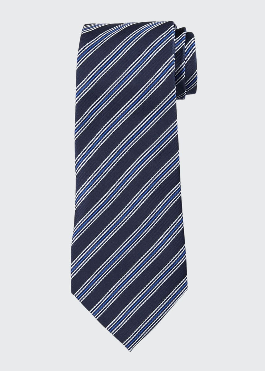 Emporio Armani Men's Striped Silk Tie
