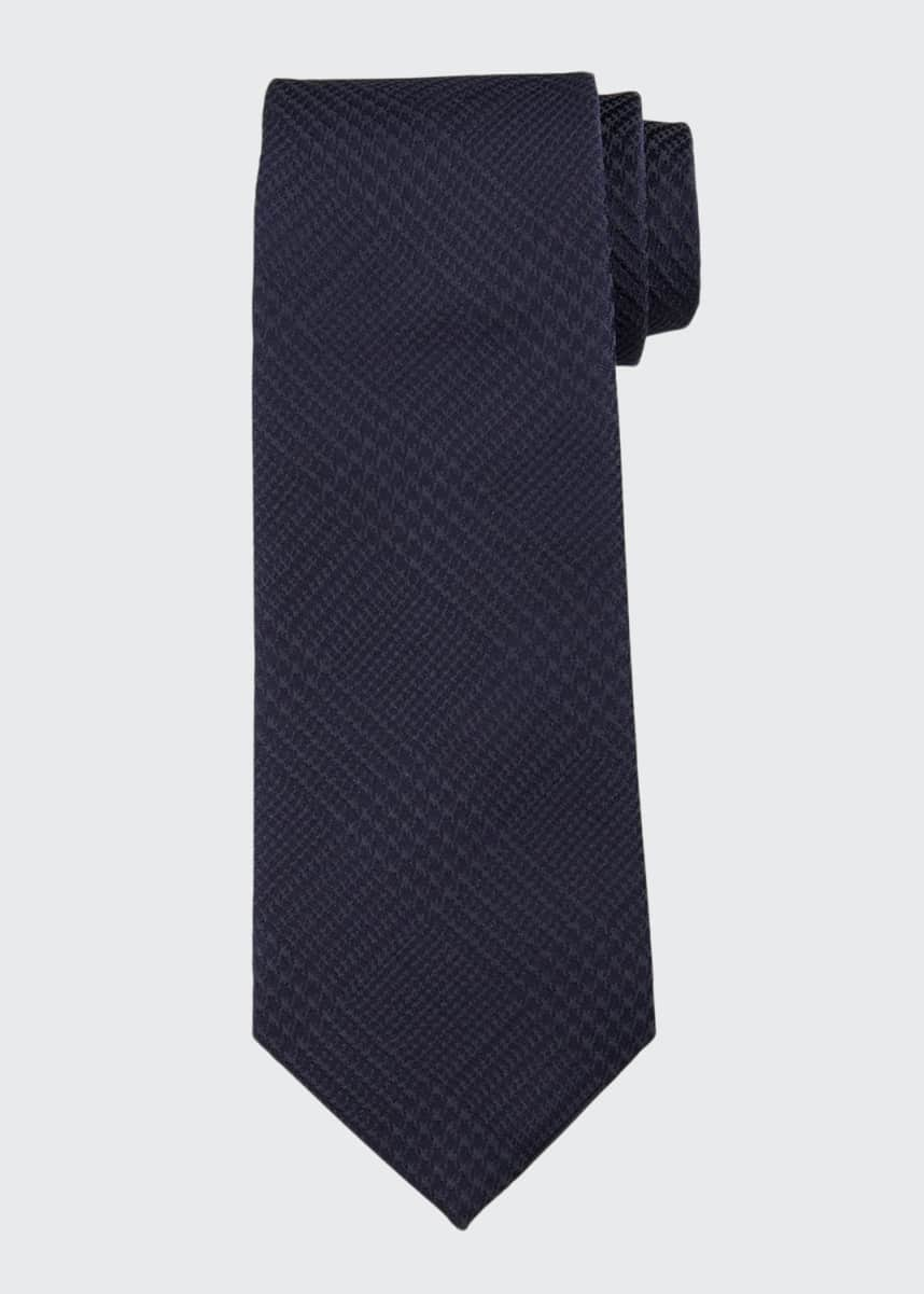 Emporio Armani Men's Houndstooth Plaid Tie