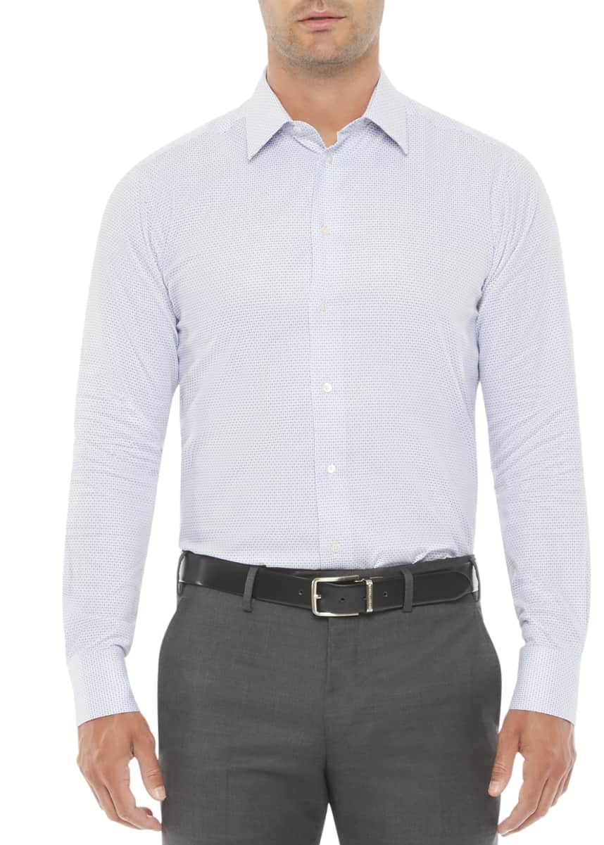 Emporio Armani Men's Micro-Box Dress Shirt