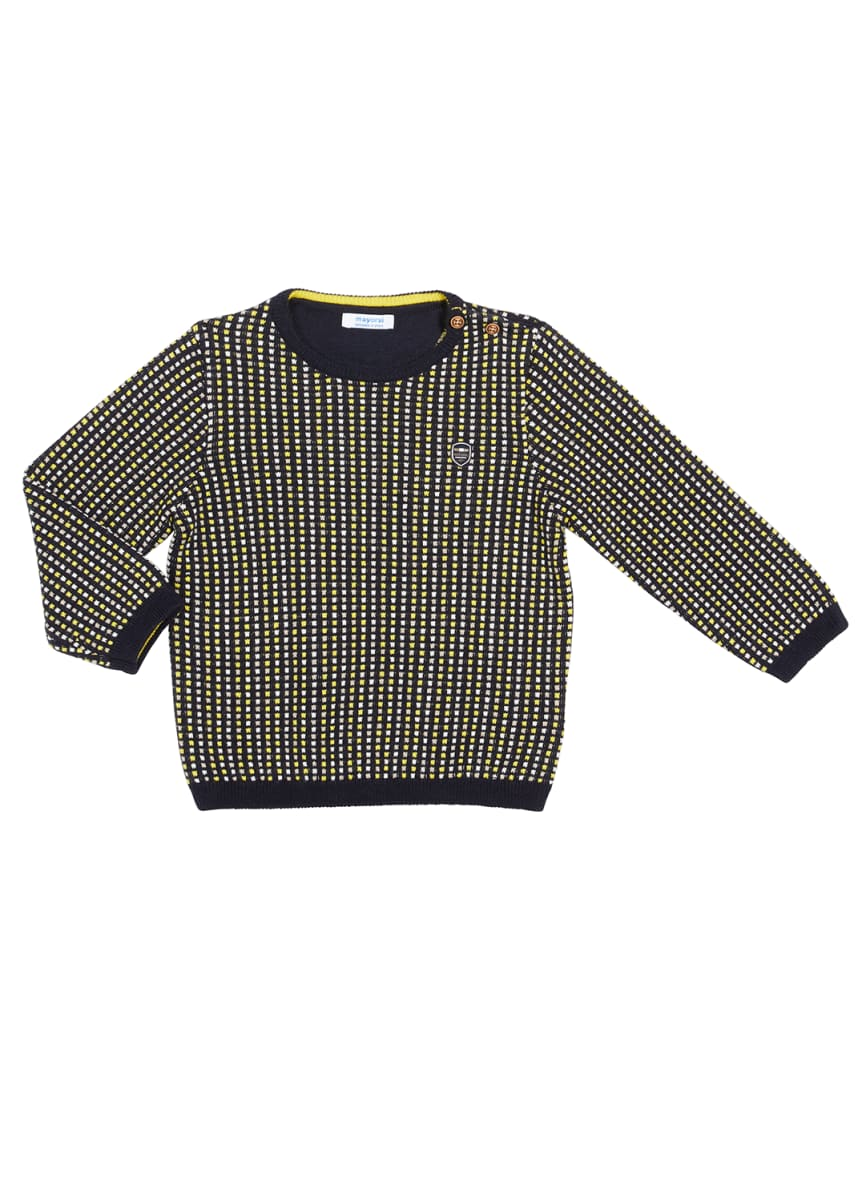 Mayoral Boy's Dotted Jacquard Sweater, Size 6-36 Months