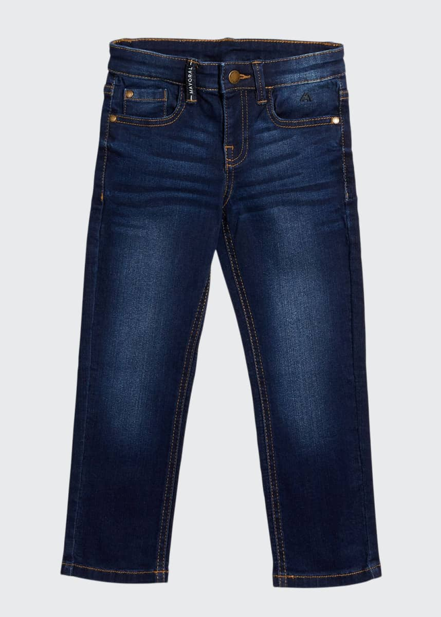 Mayoral Boy's Straight-Leg Denim Jeans, Size 4-7