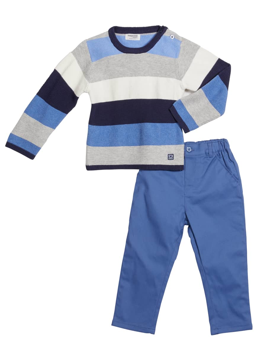 Mayoral Boy's 2-Piece Striped Sweater & Pants Set, Size 4-18M