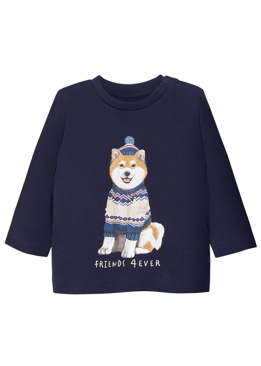 Mayoral Boy's Dog-Print Sweatshirt, Size 6-36 Months