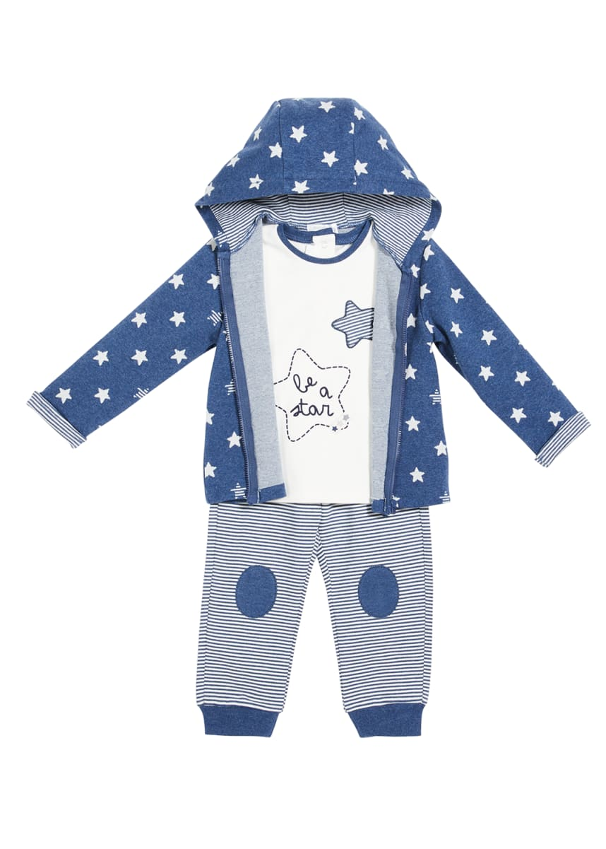 Mayoral Boy's Star Printed Three-Piece Outfit Set, Size 4-18M