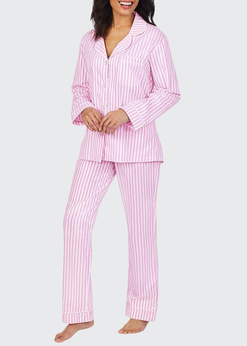 BedHead Pajamas 3D Striped Cotton Long-Sleeve Classic Pajama Set