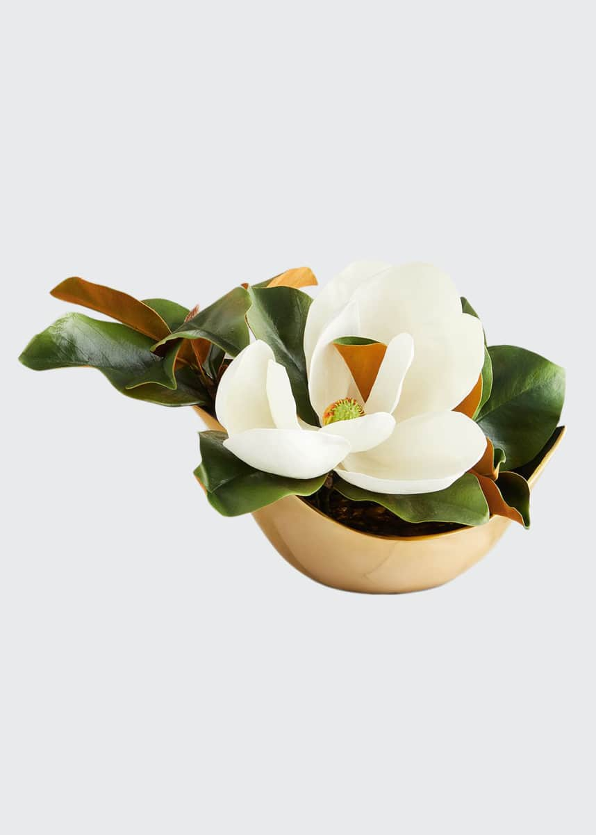 John-Richard Collection Southern Gold Magnolia Arrangement