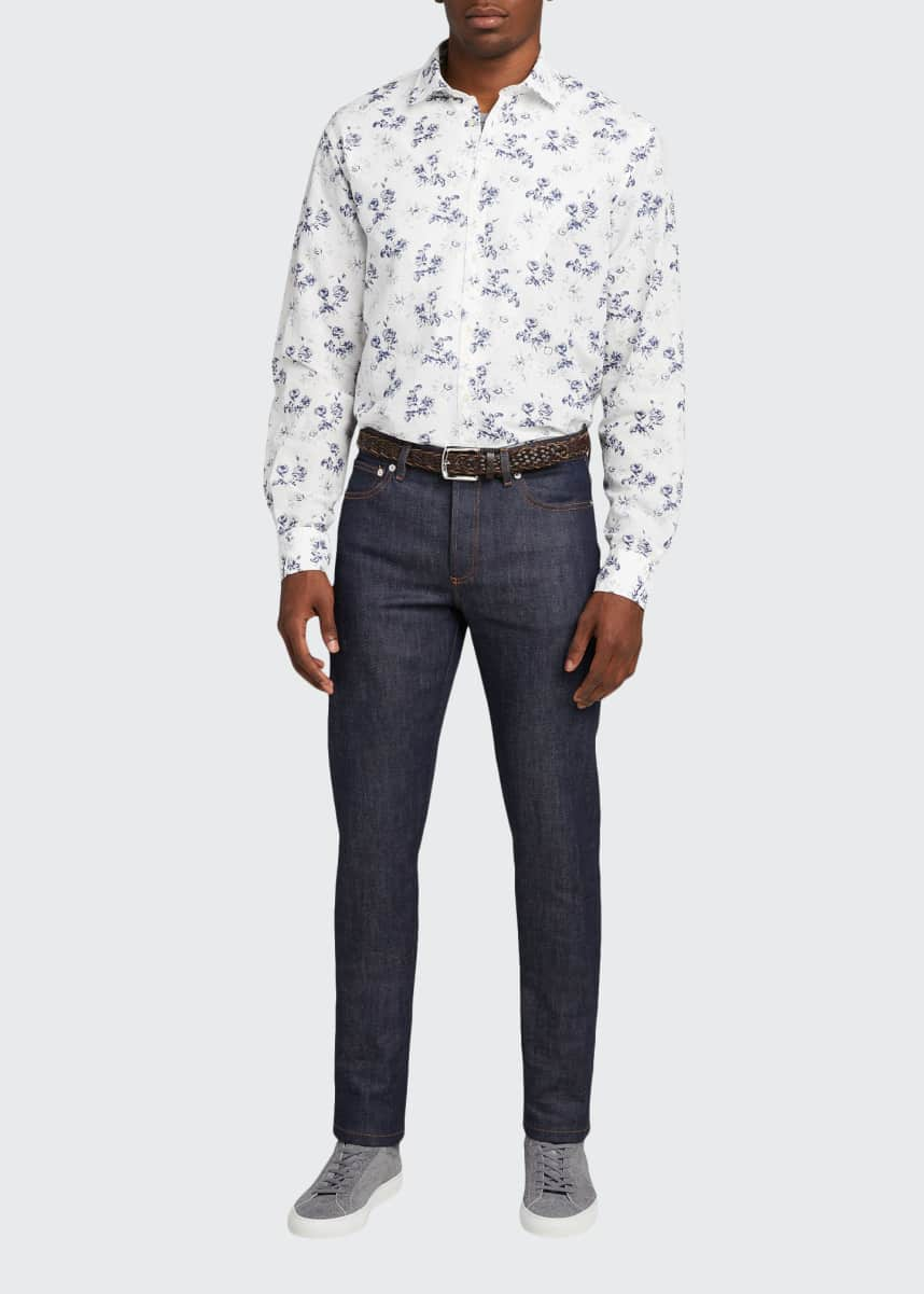 Massimo Alba Men's Floral-Print Cotton Long-Sleeve Shirt