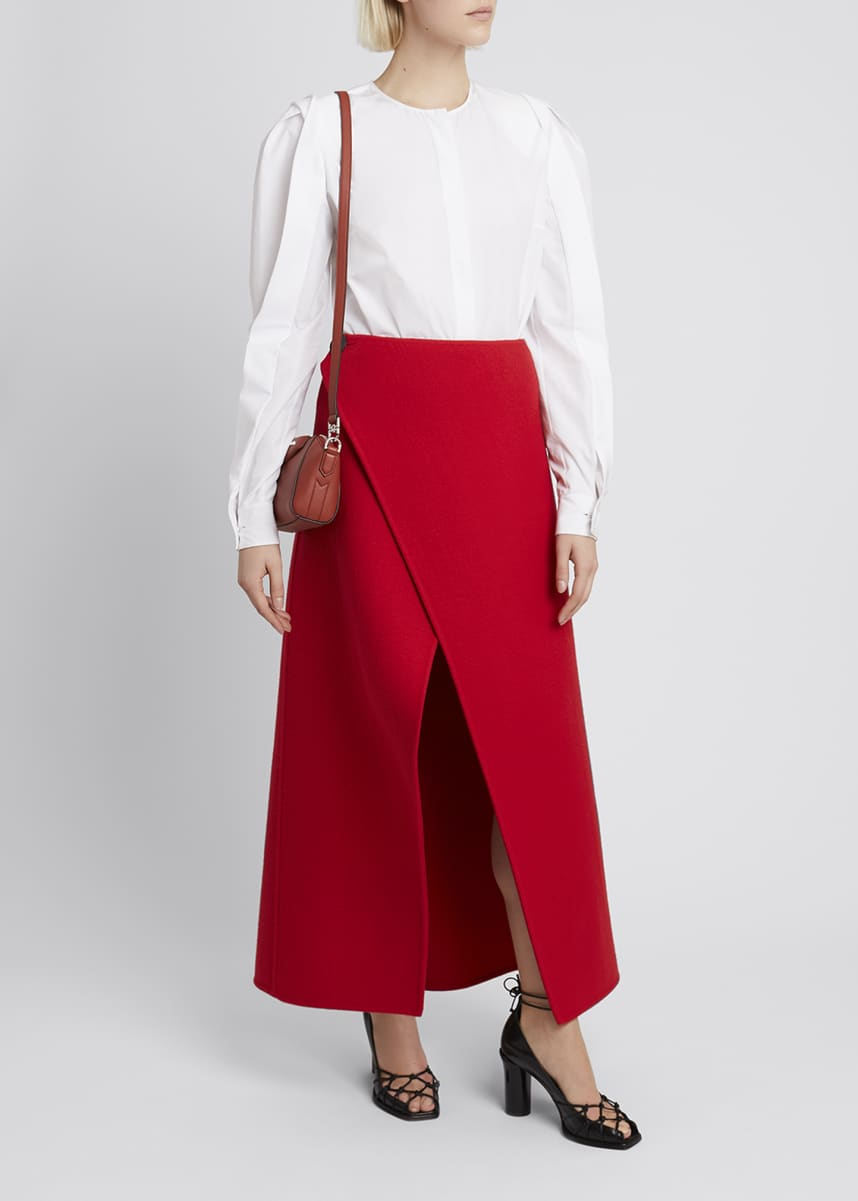 Givenchy Wool Midi Wrap Skirt