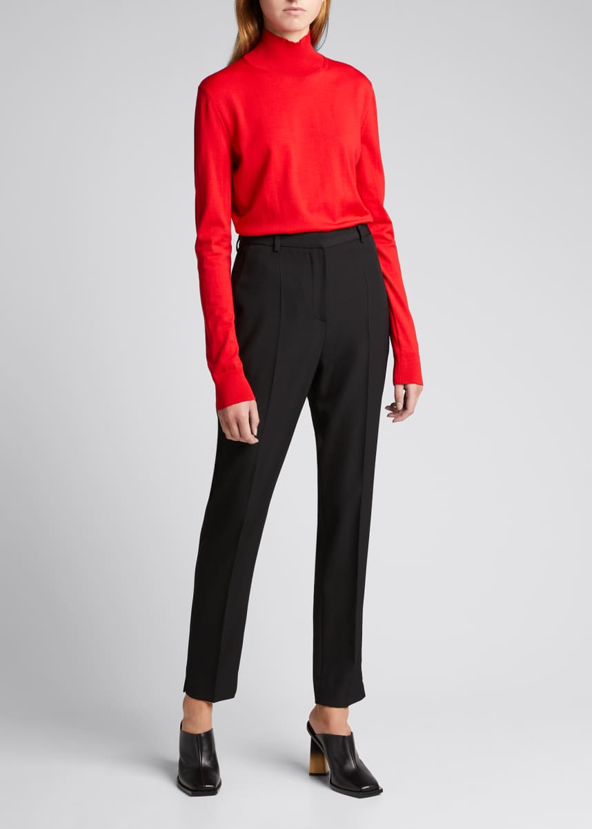 Givenchy Thin Rib Knit Wool-Blend Turtleneck Sweater