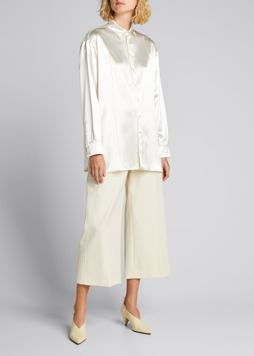 Jil Sander Nadir Satin Button-Down Blouse