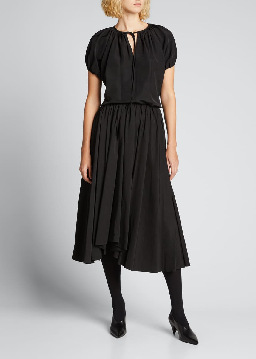 Jil Sander Nastya Pleated Asymmetrical Skirt