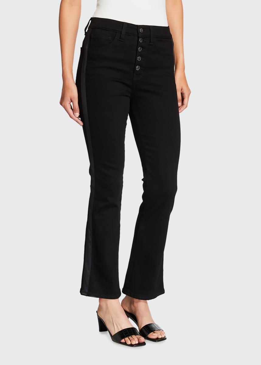 Veronica Beard Jeans Carolyn Baby Boot Jeans with Tuxedo Stripes