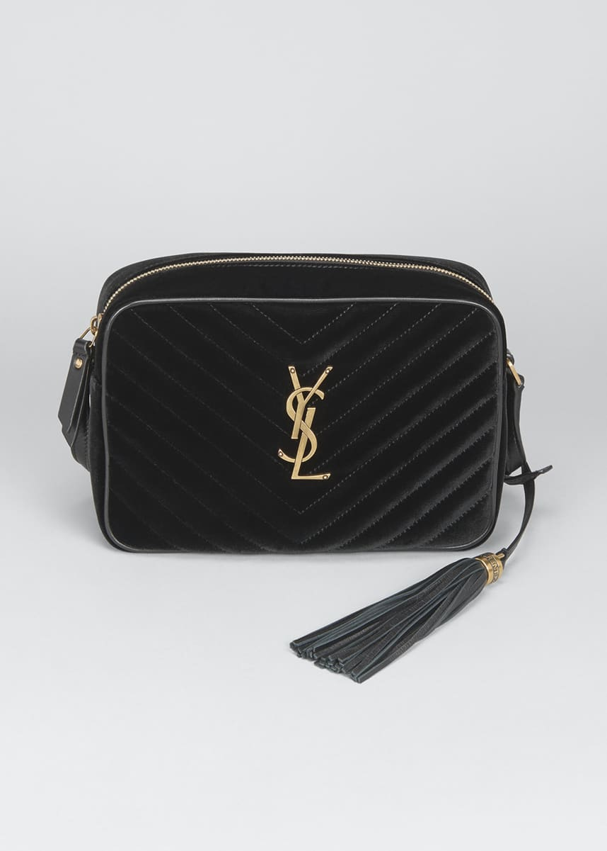 Saint Laurent Lou Medium YSL Monogram Velvet Camera Bag