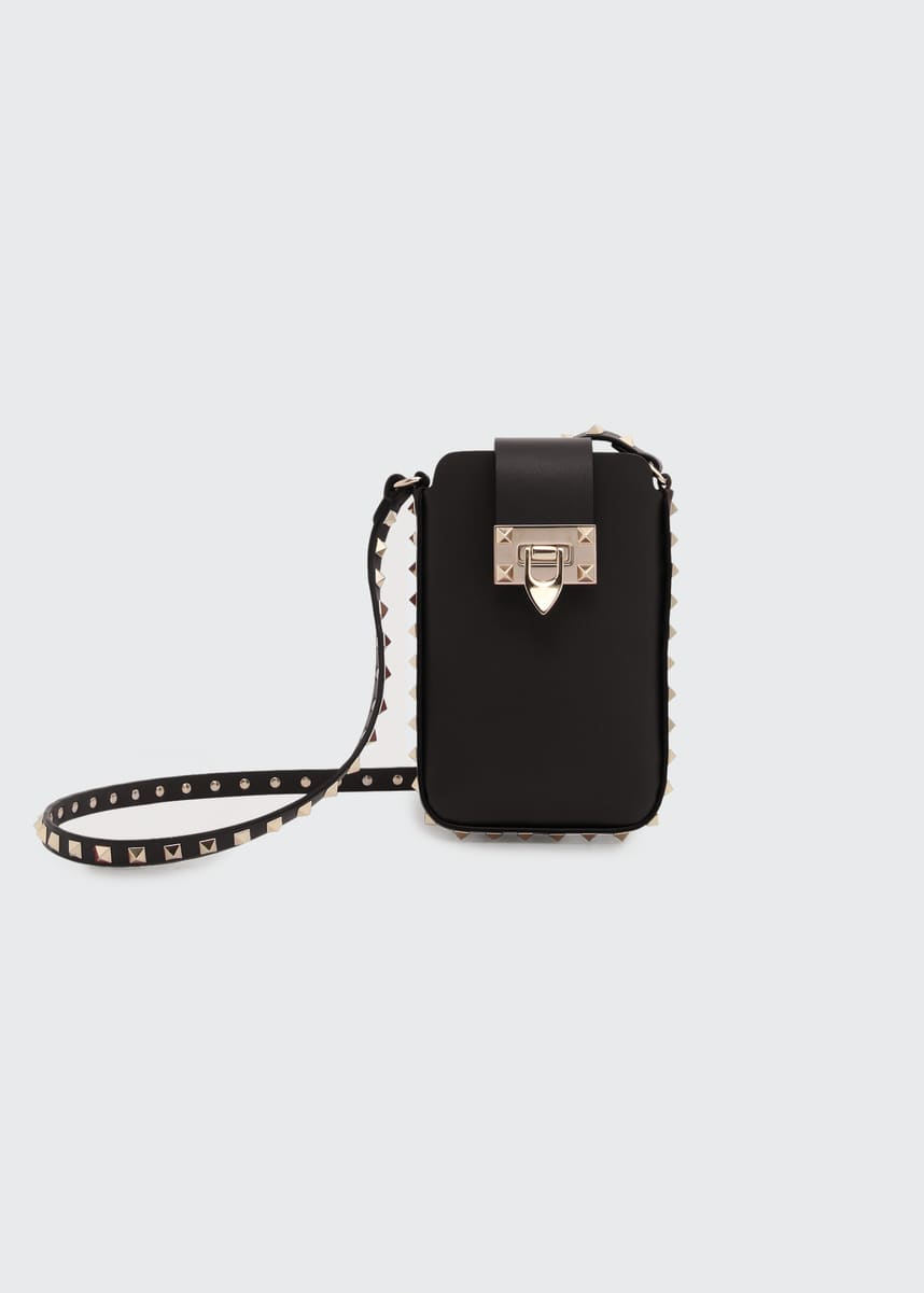 Valentino Garavani Rockstud Leather Phone Pouch Case