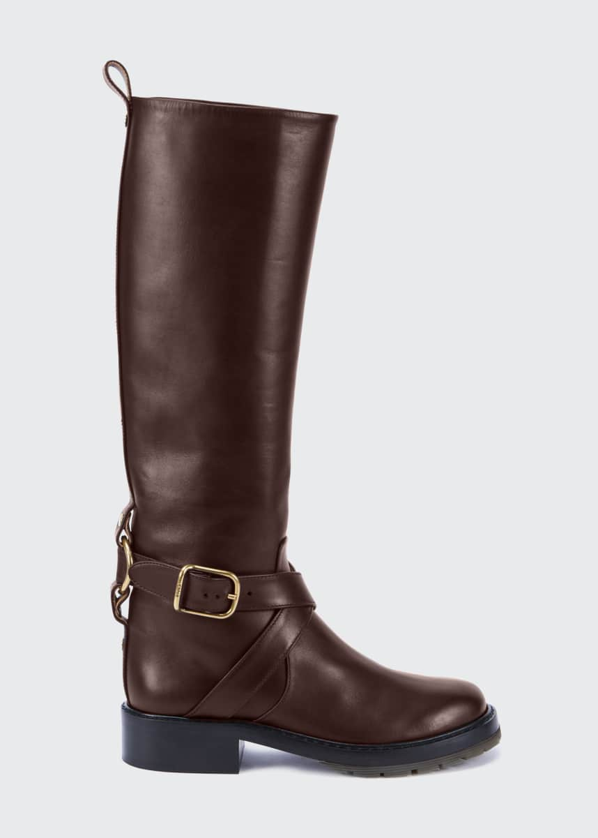 Chloe Diane Tall Biker Riding Boots