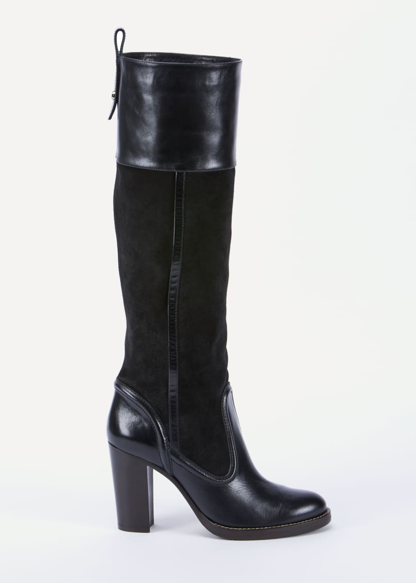 Chloe Emma Mixed Leather Tall Boots