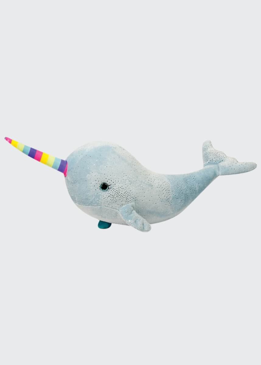 Douglas Nahlah the Blue Rainbow Narwhal Plush Toy