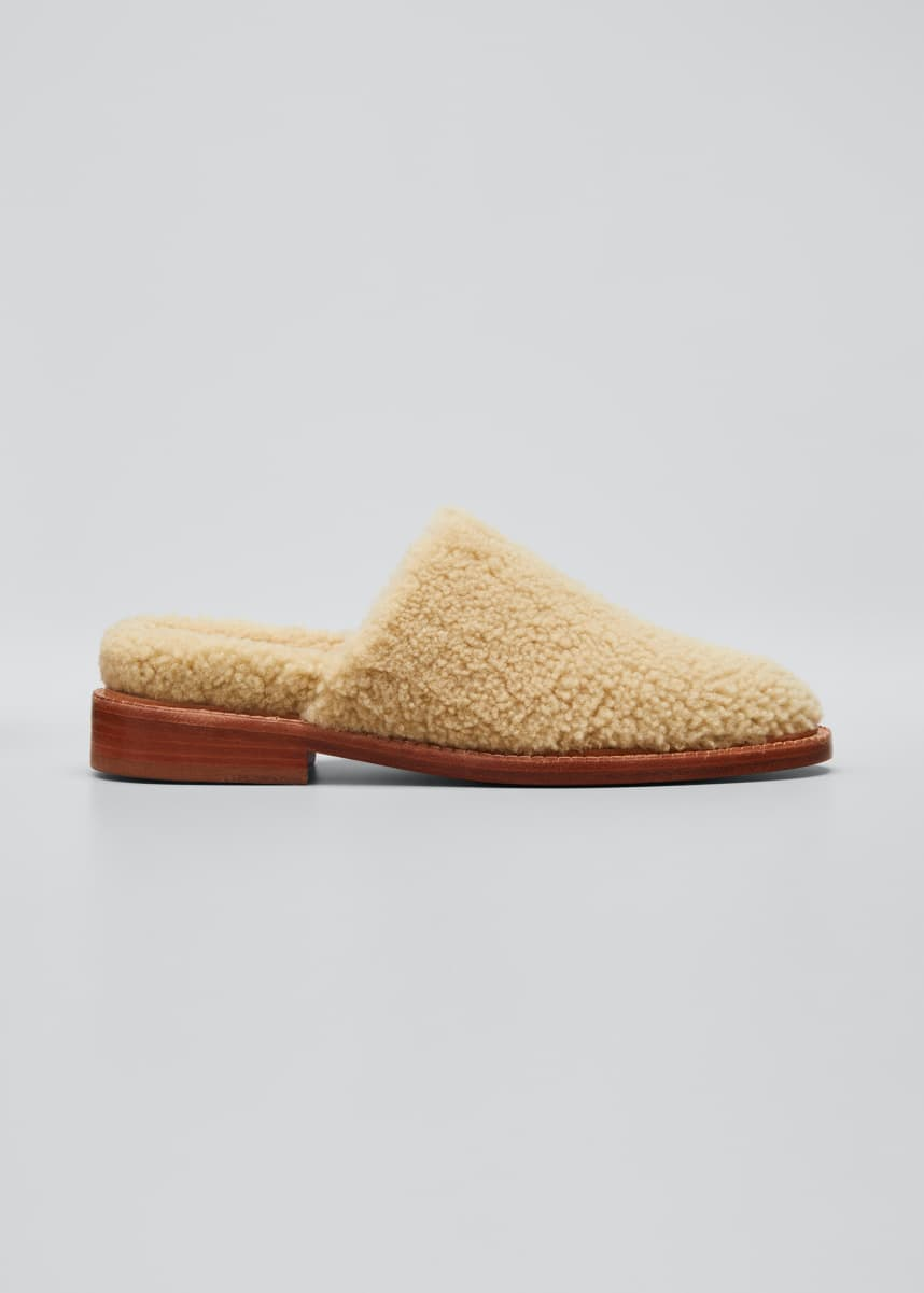 Clergerie Paris Gillef Sherpa Slippers