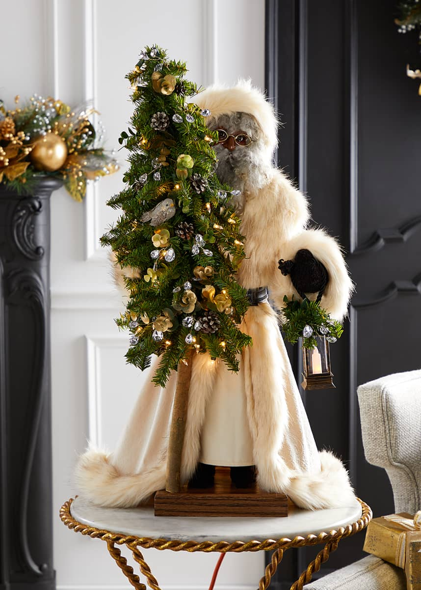 Ditz Designs By The Hen House Golden Opulence Black Santa, 29""