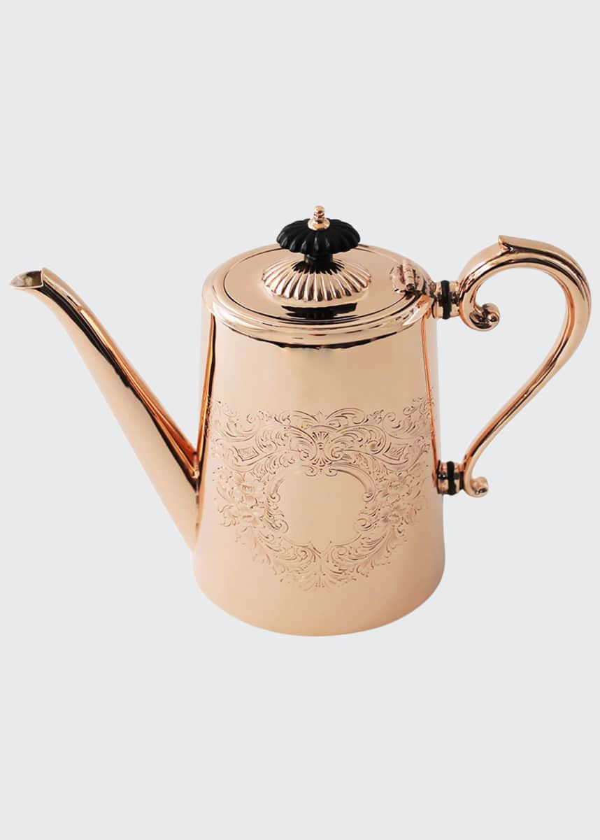 Coppermill Kitchen Copper & Silver Tall Coffee Pot #2 (Late 19th Century)