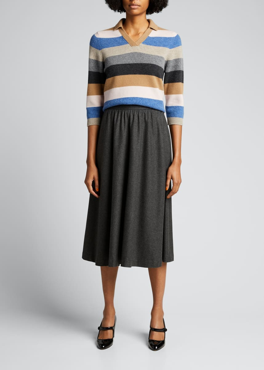 Marc Jacobs (Runway) Striped Wool-Cashmere Sweater