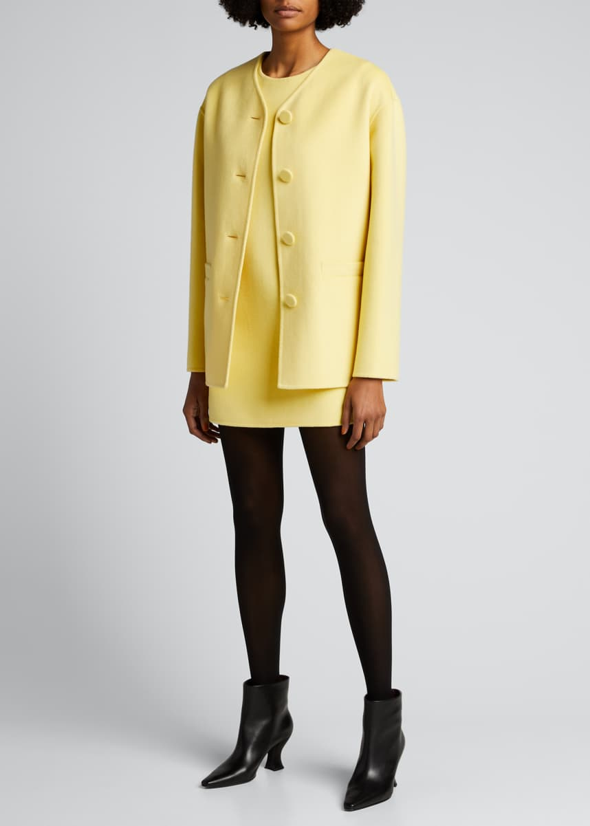 Marc Jacobs (Runway) Boxy Button-Front Jacket