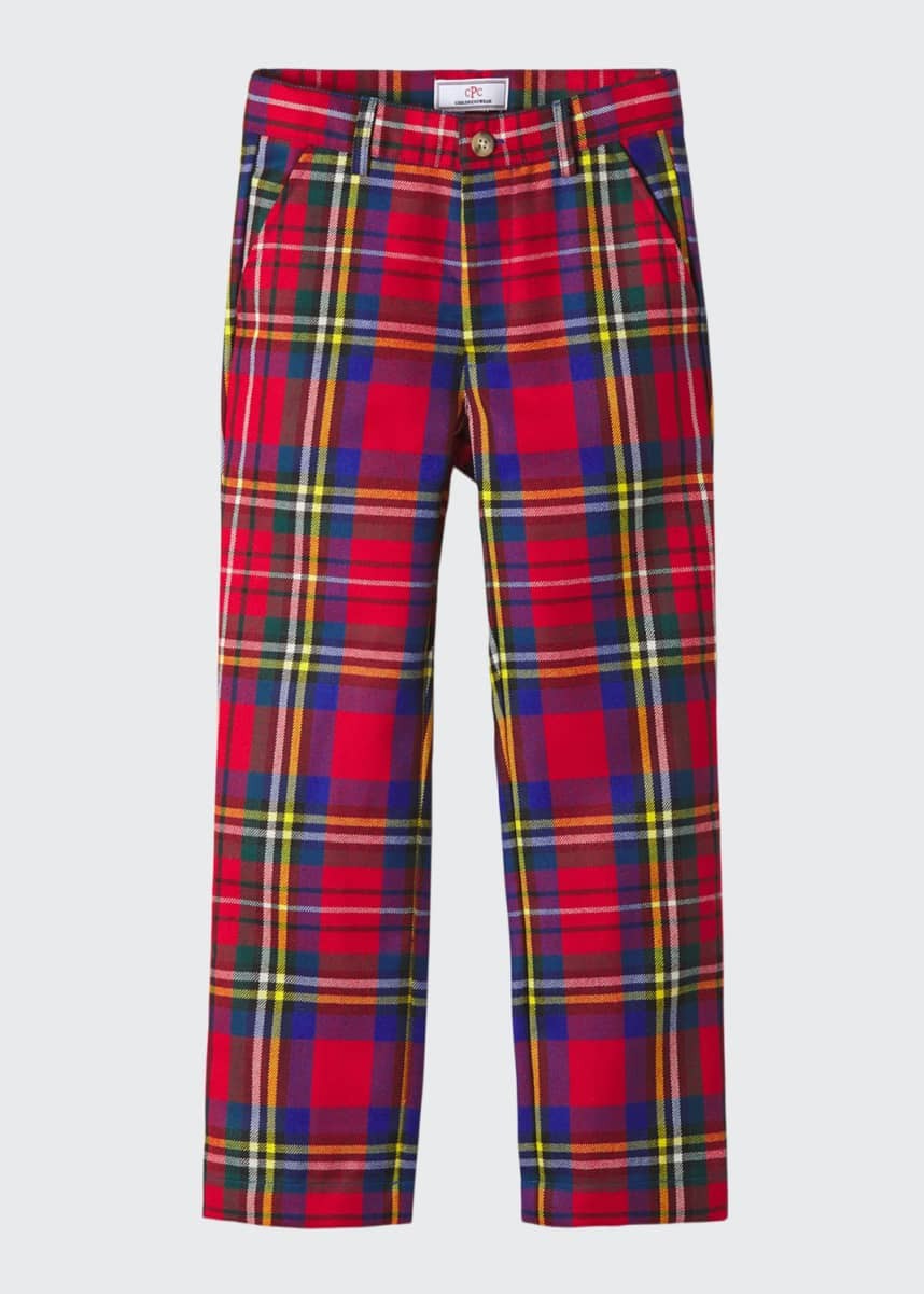 Classic Prep Childrenswear Boy's Gavin Drysdale Tartan Plaid Pants, Size 4-14