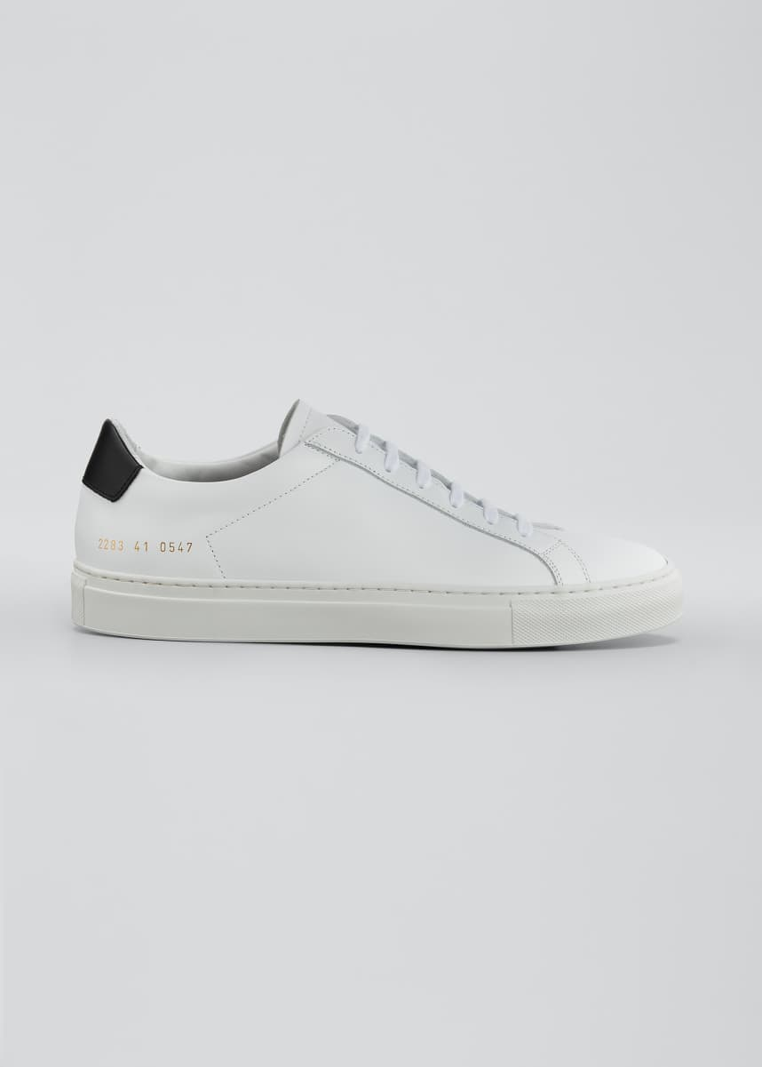 Common Projects Men's Retro Leather Low-Top Sneakers